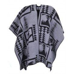 Velvet by Graham and Spencer CAMI Grey/Black Blanket Wrap