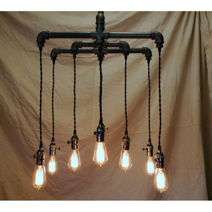 8 Light Industrial Chandelier   Everybody loves mason jars, those beautiful glass canning jars that hold everything from raspberry jam to fireflies. Now you can turn your pint or quart mason jars into beautiful pendant lights you can enjoy in any room of the house!