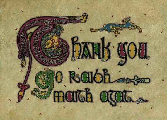how to say thank you in irish