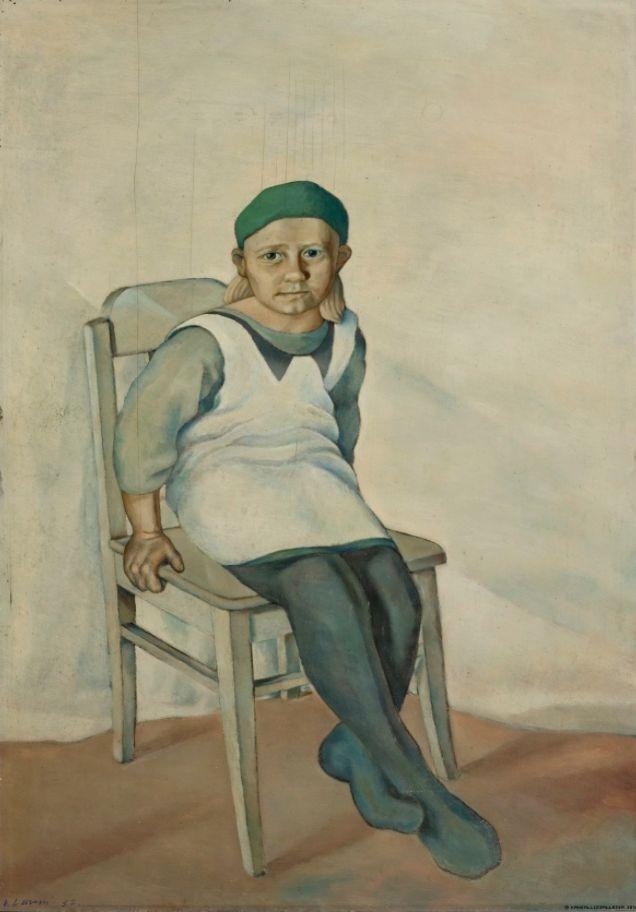 Vilho Lampi (Finland 1898-1936), Seated Girl, oil on cardboard, 1932. Collection Kansallisgalleria (Finnish National Gallery), Helsinki.