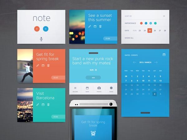 Easy Note Mobile  Web Design Concept by Cosmin Daniel Capitanu