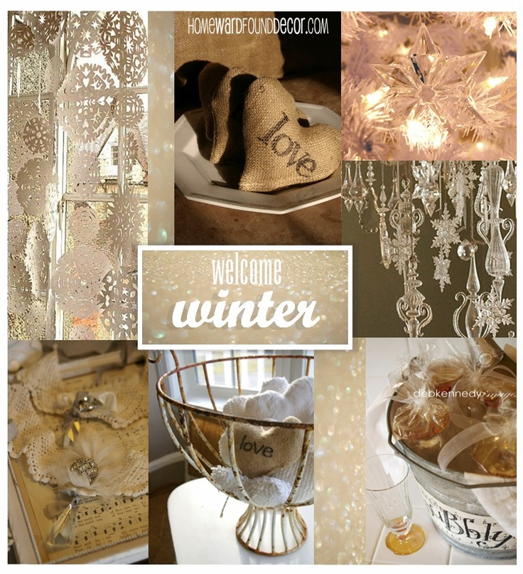 Find winter decor inspiration on my January pinboard at http://pinterest.com/debkennedy/january-decor-snow/  and tips, tutorials, and ideas for turning everyday finds into fabulous decor  over on HOMEWARDfoundDecor.com