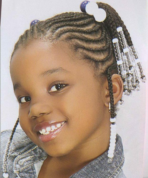 Incredible 1000 Images About Natural Kids Cornrow Pigtails On Pinterest Short Hairstyles For Black Women Fulllsitofus
