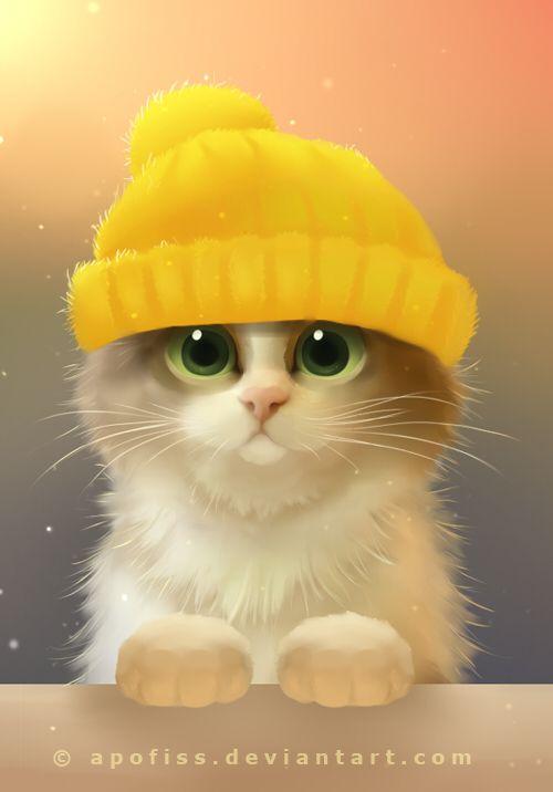 Sweet Kitty Illustration.