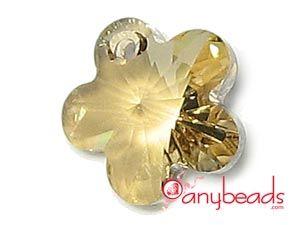 Golden Shadow - Swarovski Crystal Elements 6744 Flower Pendant 14mm  #Swarovski #crystal #pendant #goldenshadow #6744