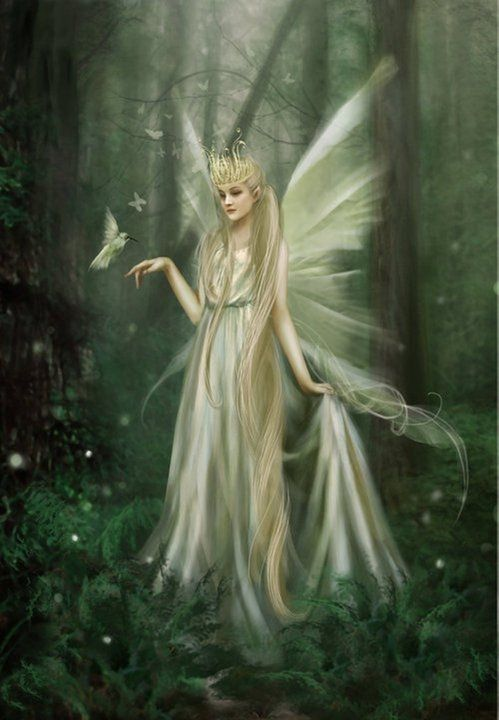 Based on Shakespeare's influence, the Fairy Queen or Queen of the Fairies was a figure from English folklore who was believed to rule the fairies and is is often named as Titania or Mab. In Irish folklore, the last High Queen of the Daoine Sidhe - and wife of the High King Finvarra - was named Oona (or Oonagh, or Una, or Uonaidh etc). In the ballad tradition of Northern England and Lowland Scotland, she was called the Queen of Elphame.:
