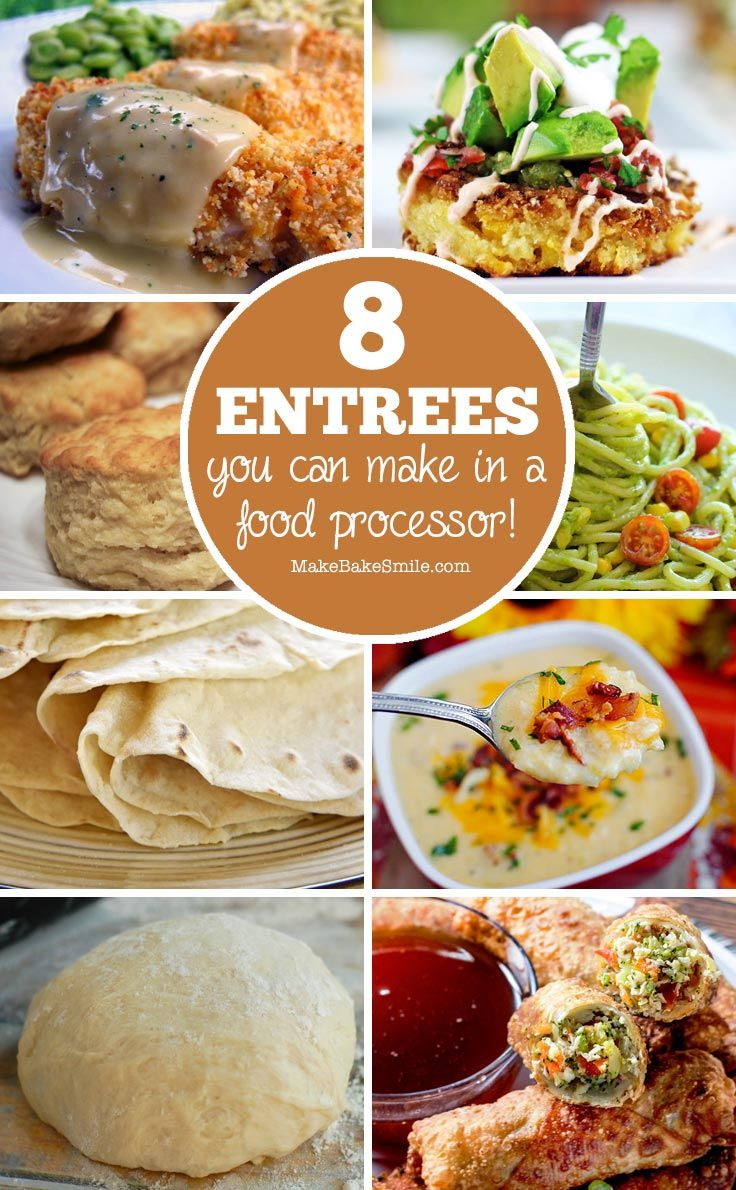 Put your food processor to work with these delicious dinner recipes. From chicken tenders to corn cakes and biscuits the whole family will enjoy them!
