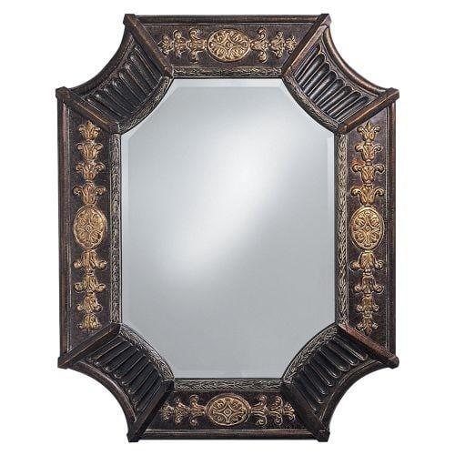 "Howard Elliott 2001 Orion 39"" x 32"" French Brown Mirror"