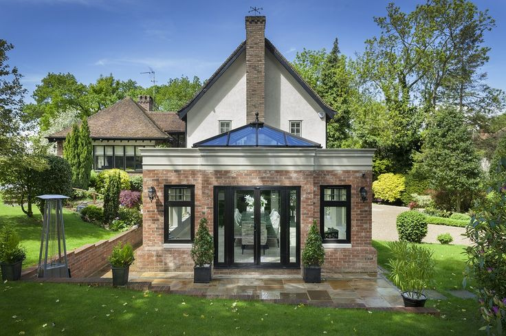Amazing orangery! Who wouldn't want one of these? Complete with #Residence9 windows and doors. #R9journey #orangery #HomeIdeas #Home