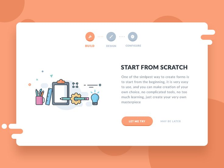 Form start up (Choosing form creation from scratch) by Prakhar Neel Sharma #Design Popular #Dribbble #shots