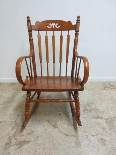 Andover-Tell-City-Maple-Plank-Bottom-Bent-Wood-Rocker-Rocking-Chair