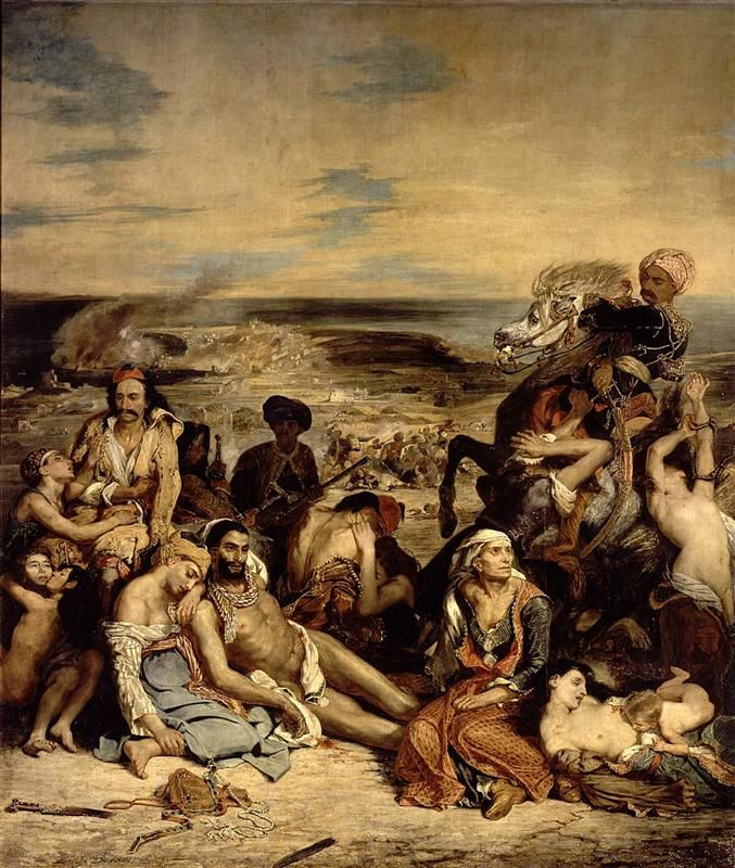 Eugène Delacroix- Scenes from the Massacre of Chios, 1822