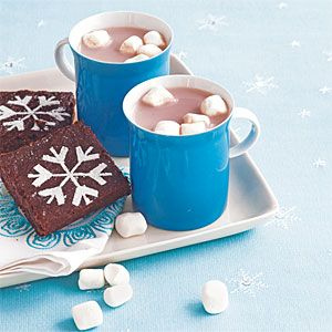 Hot chocolate and Snowflake Brownies #recipe
