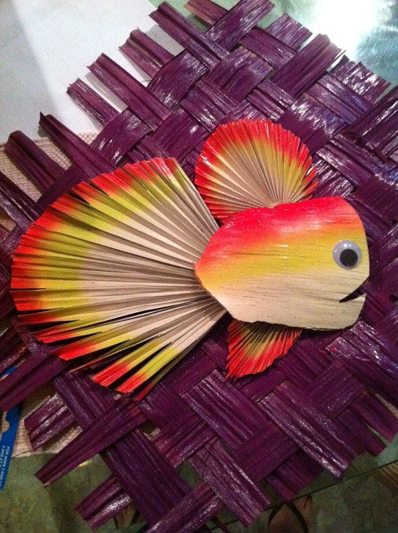 Palm Frond Fish by ThePalmStore on Etsy, $30.00