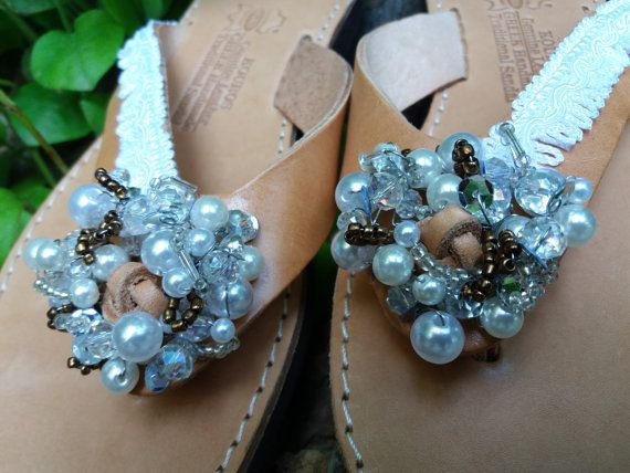 Bridal Sandals Wedding ShoesRomantic sandalsGreek by Byhandtoheart