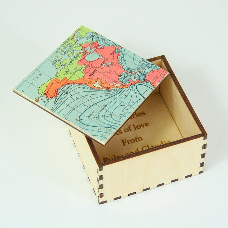 Map Cufflink Or Jewellery Box