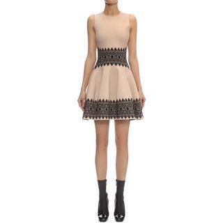 ALEXANDER MCQUEEN, Mini Dress, Lace Circle Jacquard Mini Dress