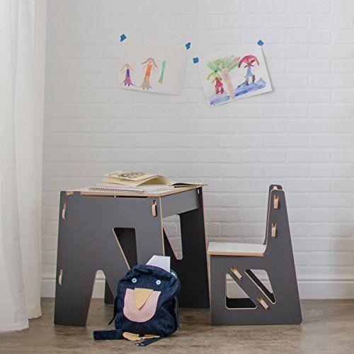Modern Kids Desk Chair Storage Wooden School Reading Playing Home Child Room NEW #ModernKidsDeskChairStorage