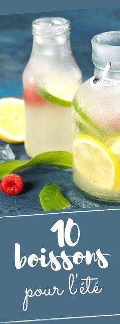 Découvrez nos 10 boissons rafraîchissantes pour survivre aux grosses chaleurs !