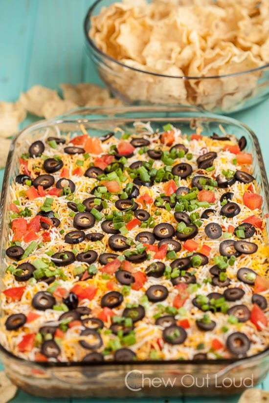 NO BAKE 7 layer mexican dip