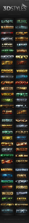 3D Photoshop Text Effects Vol.13-20 Bundle - Text Effects Styles