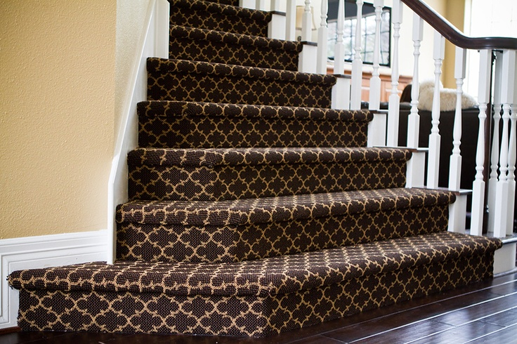 Patterned Stair Carpet   The Stair Treads Carpet As Perfect Solution For  House U2013 Garden Design