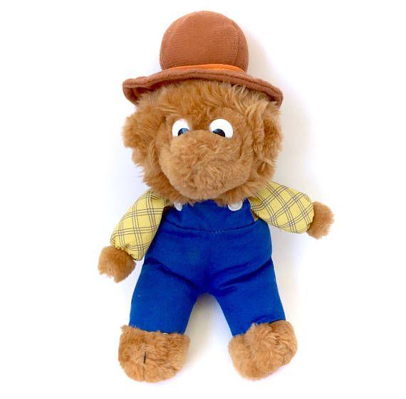 Vintage Berenstain Bears Papa Bear Plush Doll Stuffed Original
