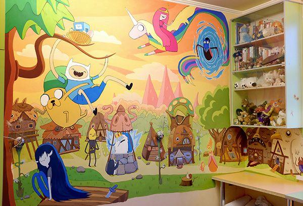 Mural based on Adventure time! by Sasha Kiseleva, via Behance