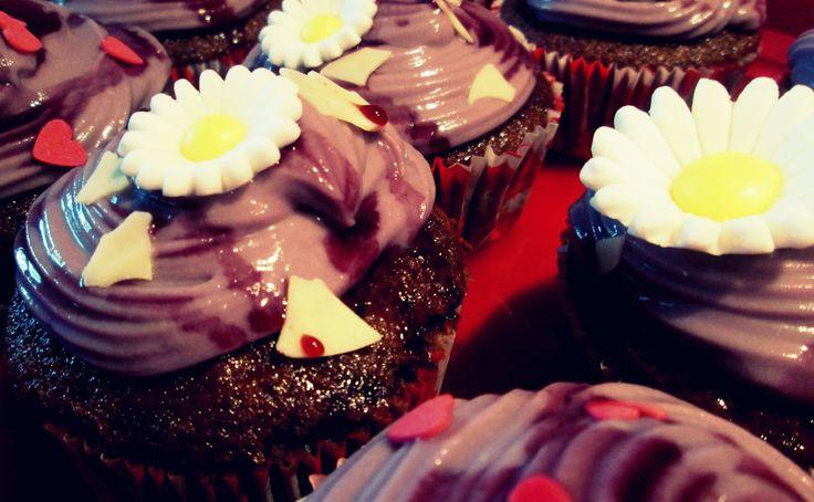 Cupcakes al vino rosso