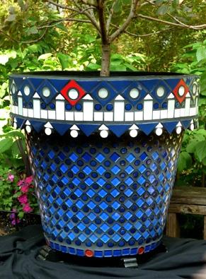 1111 best mosaic images on pinterest crafts mosaic ideas and melinda polites large round mosaic pot workwithnaturefo