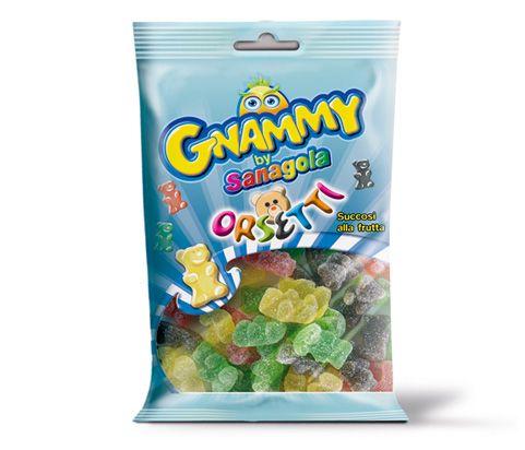 GNAMMY #ORSETTI #Gummy #candies. Tastes: #apple, #lemon, #strawberry and #cola. Bag 175 g. #Gluten free