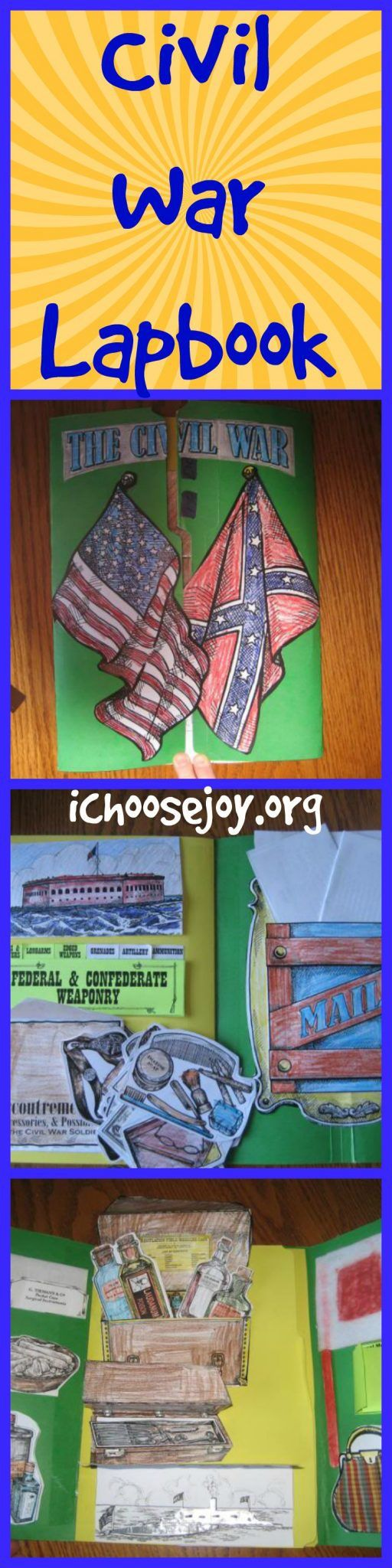 Civil War Lapbook from Homeschool in the Woods. We loved doing this history supplement in our homeschool when we studied the Civil War.