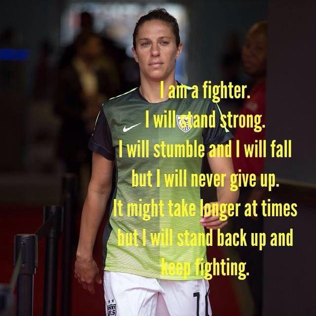 I am a fighter-Carli Lloyd