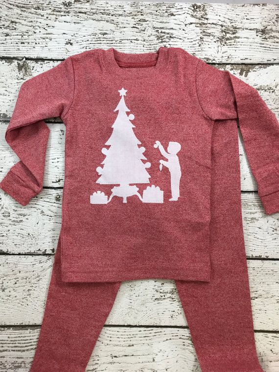 New lil threadz design posted! size 2 pajama boy's Christmas Pajamas Holiday Pajamas Christmas pj for boy pajama set Children's Christmas pajama kid's pajama by lilthreadzclothing