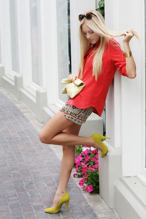 Hot Blonde In Short Skirt 42