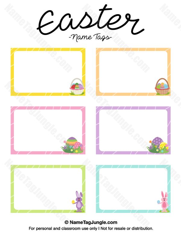 Spring Preschool Printable Name Tags Clipart Library - Cubby name tag template