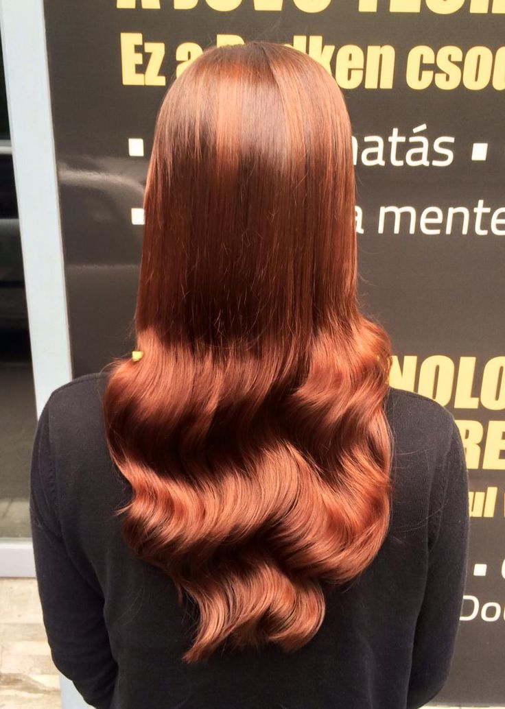 Redken hair color. Pretty Red Hair :)