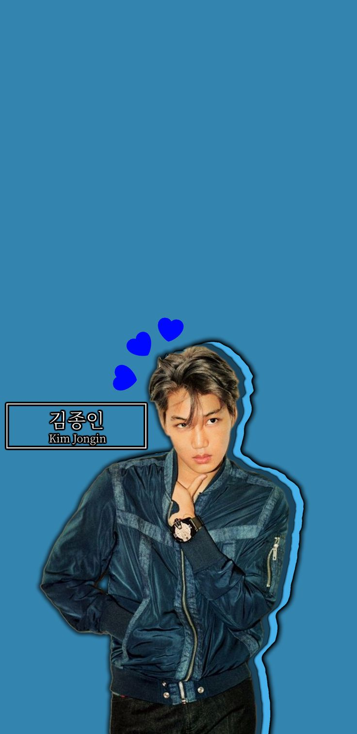 HEARTY KAI s8 WALLPAPER [BLUE EDITION] (© exoslotto) •do not edit• insta : KyungsooCentral . hi feel free to use my creation and give me feedback on how it is :) if you want your personal wallpaper , please ask me if you want but i am still practicing on my creativity because i suck at being creative haha . please go message me here or on instagram if you will !