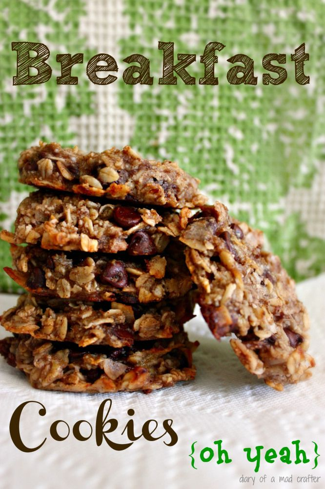 Breakfast Cookies made with bananas, almond meal, flax seed, oats, coconut oil, chia seeds - No added sugar needed!