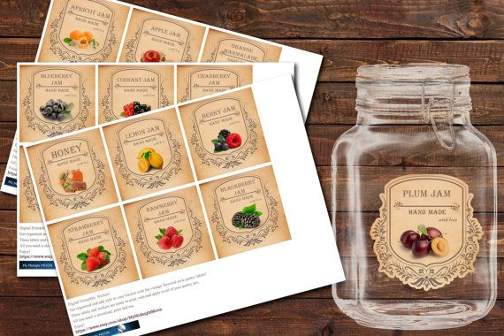 Digital Printabble Kitchen Stickers  Vintage от MyMidnightMoon