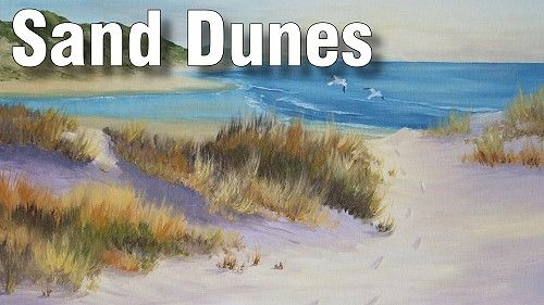 How to Paint Sand Dunes on The Beach in Oil