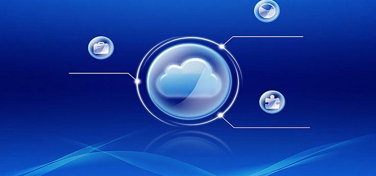 синий фон плакат Баннер облачных вычислений, облачные вычисления, синий, плакат баннер, Изображение на заднем плане