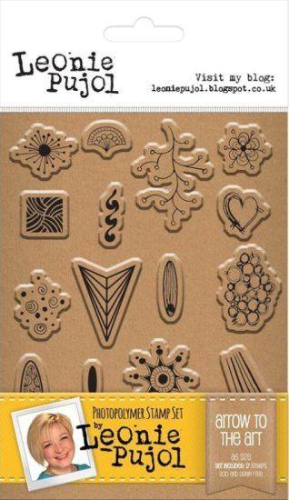 Leonie Pujol A6 Clear stamp set - Arrow to the Art