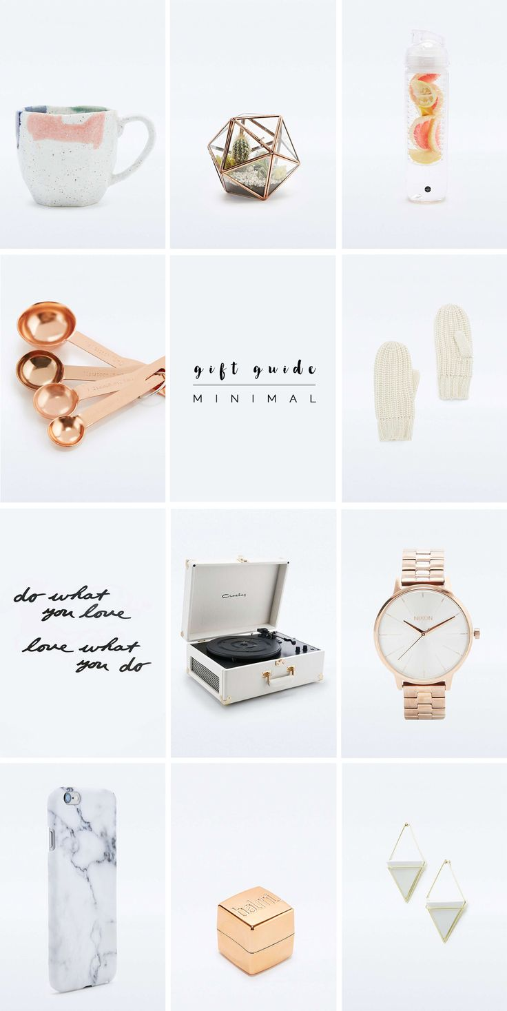 A gift guide for the minimalist! @fallfordiy                                                                                                                                                                                 More