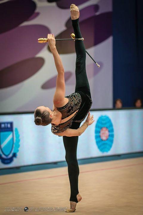 Ganna Rizatdinova (Ukraine), won bronze in clubs at World Cup (Sofia, Bulgaria) 2015