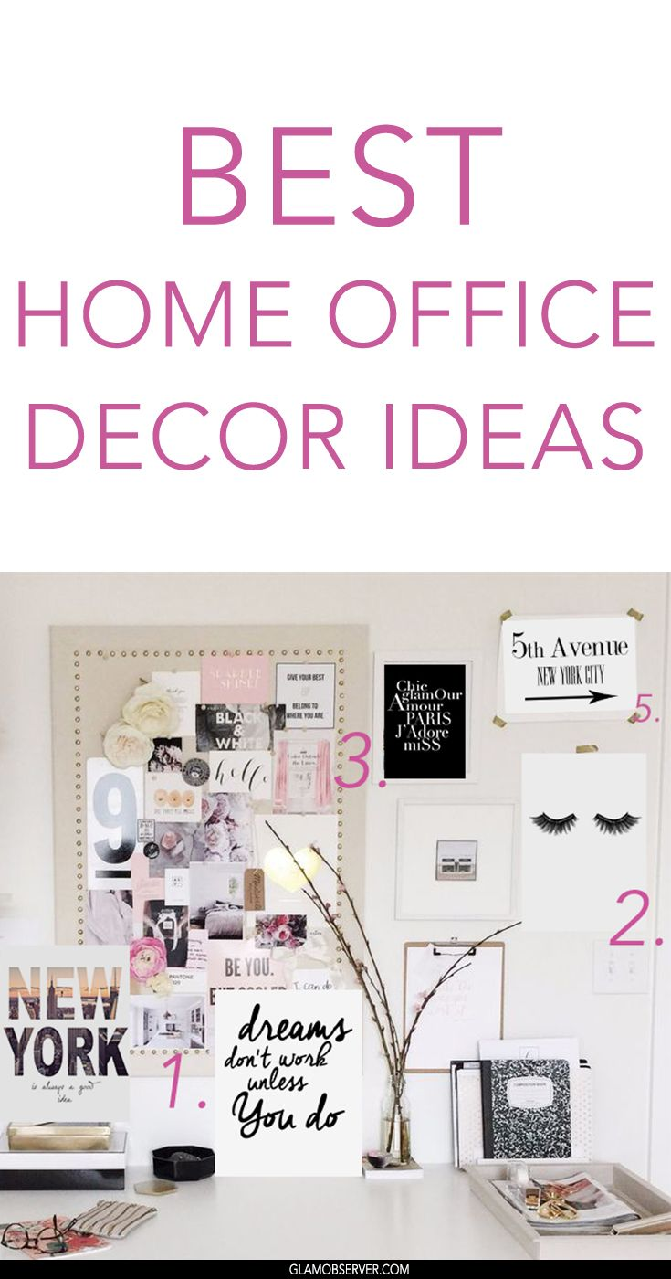 The Best Office decor ideas for girls, bloggers and female entrepreneurs who run their business from home
