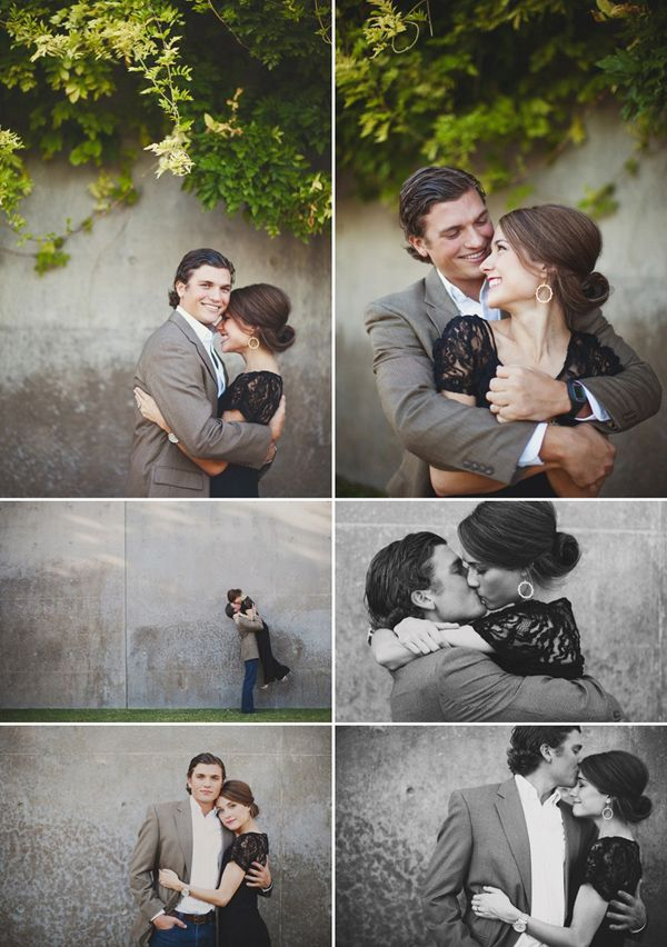 engagement pictures - I love how dressy their outfits are as opposed to the casual feel most engagement sessions have