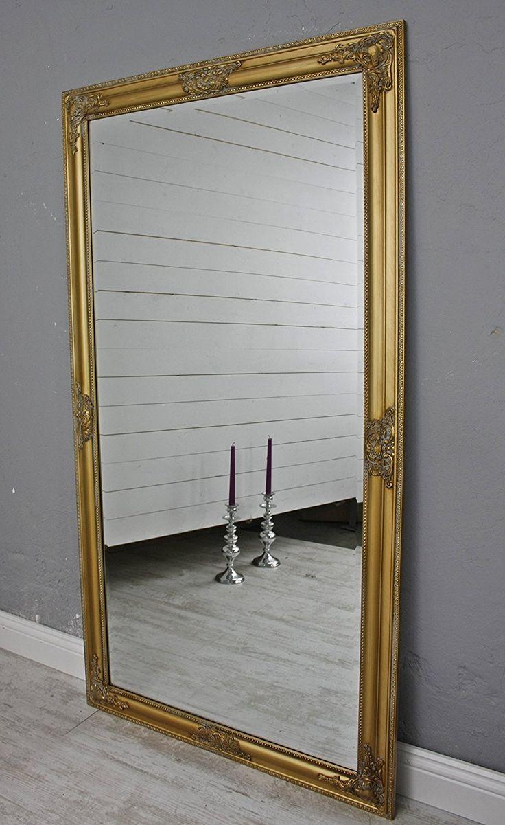 Specchio da parete oro bianco argento cornice in legno: Amazon.it: Casa e cucina