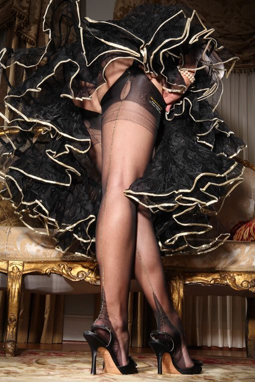 Secrets in Lace Shiny Seamed Fully Fashioned Stockings