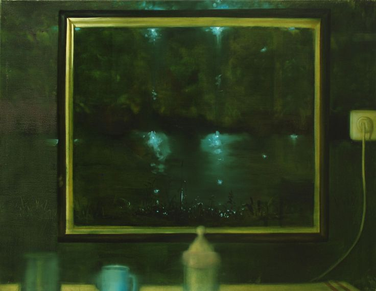 Herman Levente: Zóna 06 – Konyha / Zone 06 - Kitchen - 2009 olaj, vászon / oil on canvas - 80x100 cm